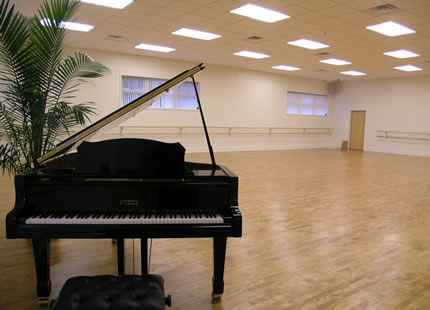 piano in Studio A.